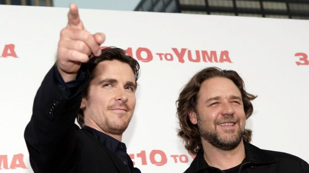 Christian Bale y Russell Crow