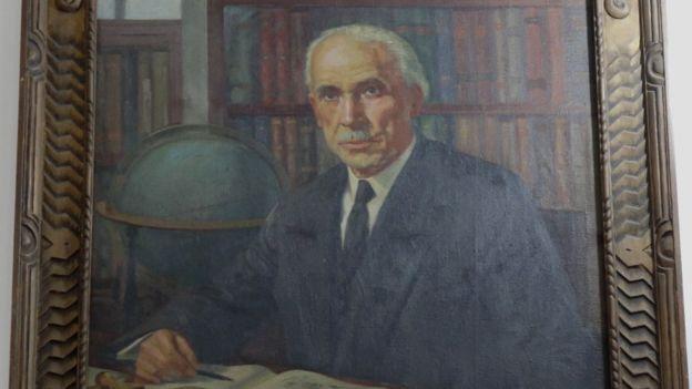 Retrato de Jorge Álvarez Lleras, exhibido en el Observatorio Nacional.