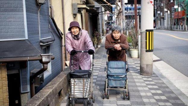 Personas mayores en Japón.