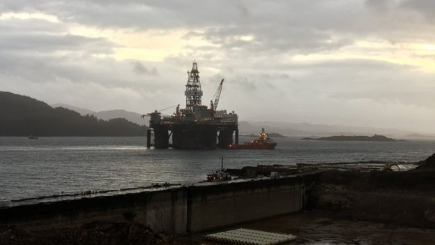 Kishorn: Rig work 'wakens sleeping giant' - BBC News