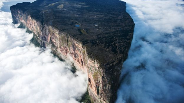 Mount Roraima, a tabletop mountain on the borders of Brazil, Guyana and Venezuela