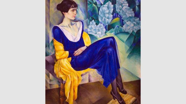 """رسمٌ """"بورتريه"""" بريشة """"ناثان أولتمان"""" يعود إلى عام 1914 لـ""""أخماتوفا"""""""