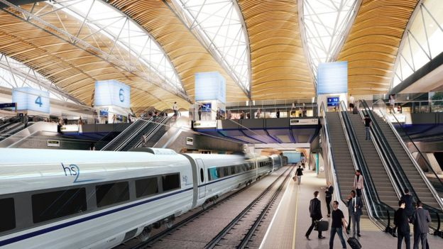 Artist's impression showing how the new Euston station could look