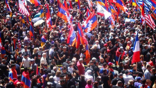 Шествие в память о массовых убийствах армян в Голливуде в апреле 2019 года