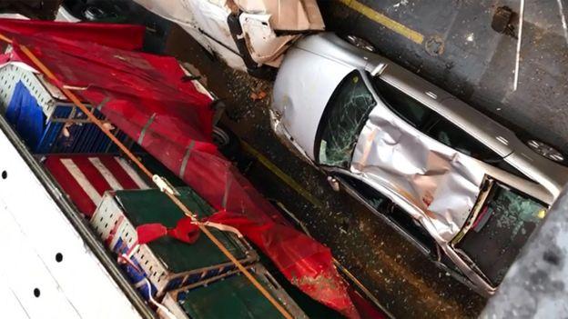 Car damaged on ferry