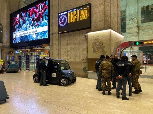 ارتش و پلیس برای اجرای قانون منع تردد در میلان آماده می شوند