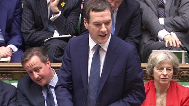 George Osborne delivering his budget