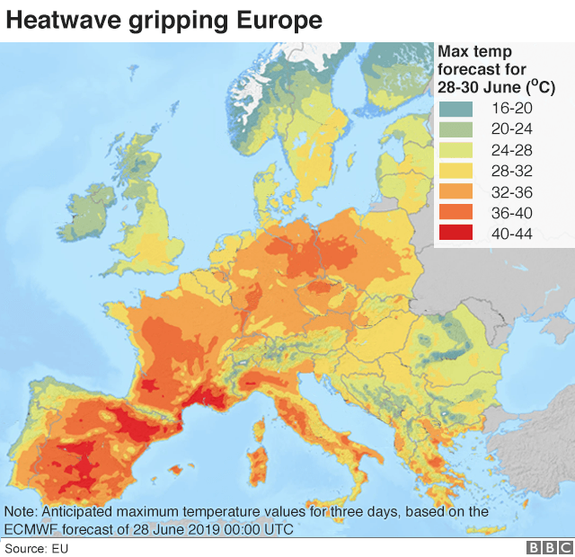 Europe heatwave: Why are temperatures on the continent soaring ...