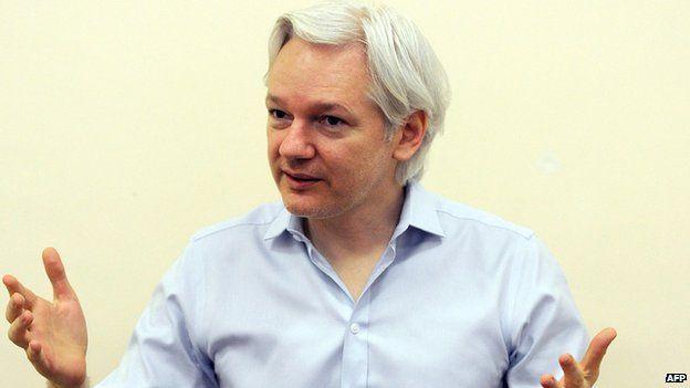 Julian Assange, em 14 de junho de 2013