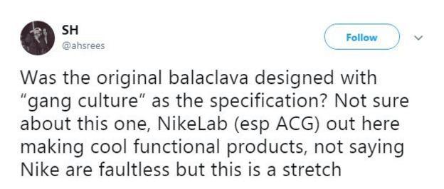 34ebdb413b17 Nike removes balaclava accused of  targeting gun culture  - BBC News