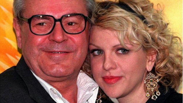 Milos Forman and Courtney Love