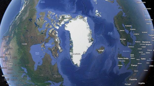 Mapa Groenlândia