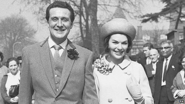 Macnee and wife Katherine Woodville