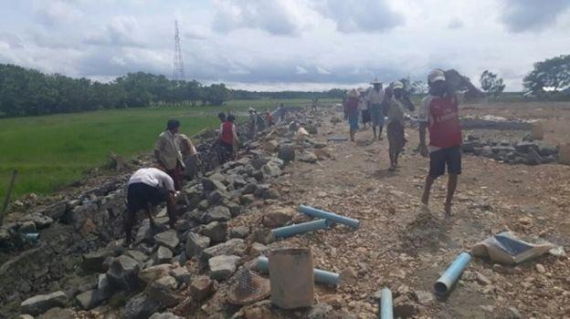 pembangunan rumah sakit di Rakhine