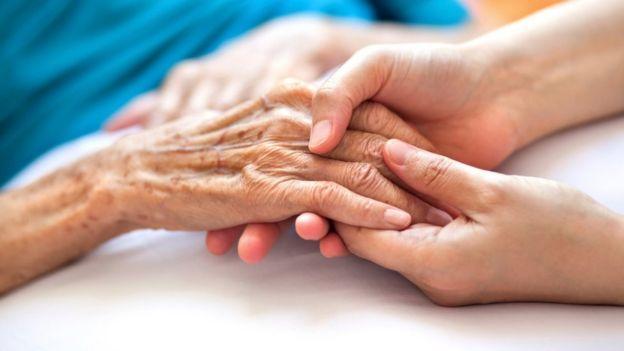 Older person hands
