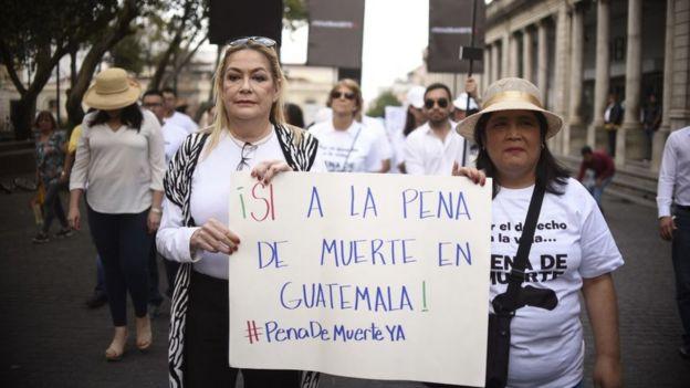 Protesta a favor de la pena de muerte