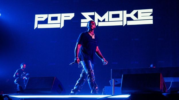 Pop Smoke on stage at London's Olympia