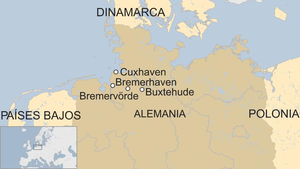 Mapa tren de hidrógeno en Alemania