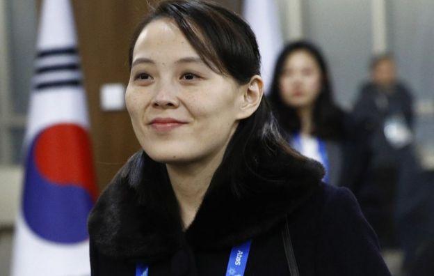 Kim Yo Jong, sister of North Korean leader Kim Jong Un, arrives at the opening ceremony of the PyeongChang 2018 Winter Olympic Games at PyeongChang Olympic Stadium on February 9, 2018 in Pyeongchang-gun, South Korea.