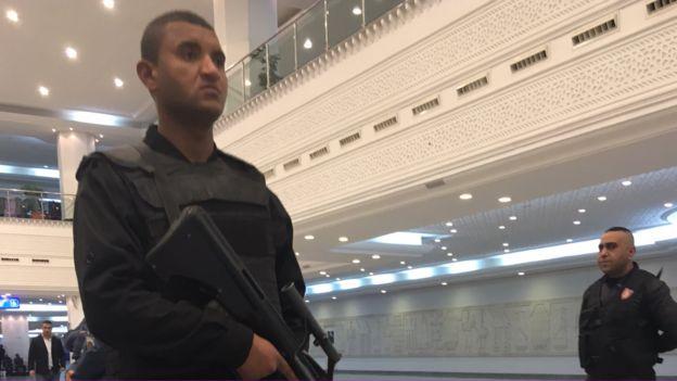 Patrolling Djerba airport
