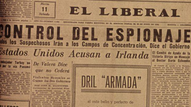 Periódico de la época