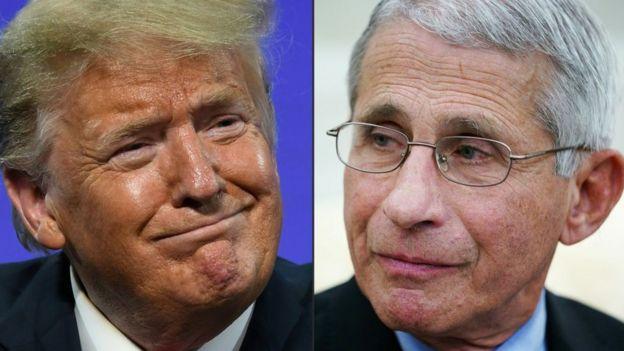 Trump y Fauci.