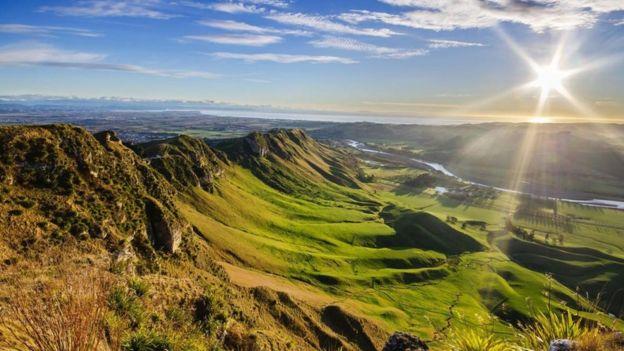 Un valle en Nueva Zelanda
