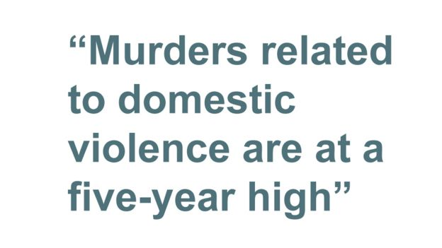 Quotebox: Murders related to domestic violence are at a five-year high