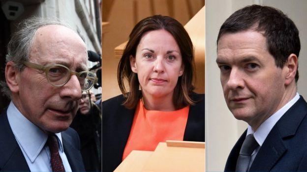 Sir Malcolm Rifkind, Kezia Dugdale and George Osborne