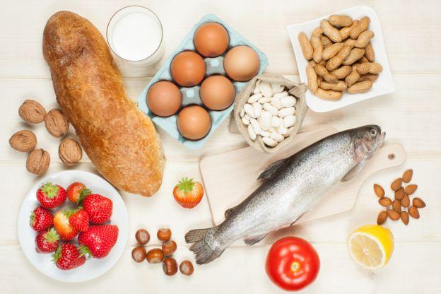 Alguns dos alimentos que mais provocam alergias