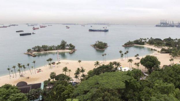 Foto de playas de Sentosa estuvieron en su día plagadas de piratas