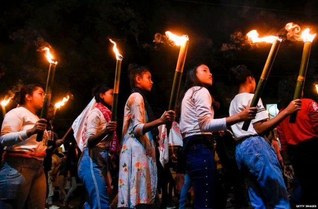 नागरिकता संशोधन विधेयक के विरोध में प्रदर्शन