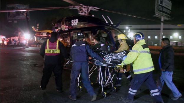 Yaralıların sevki helikopterlerle yapıldı.