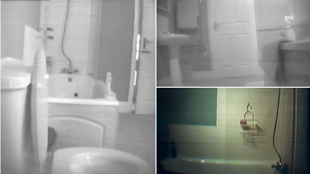 Montage of hidden camera pictures