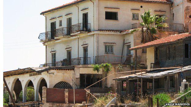 Abandoned house on Varosha beach