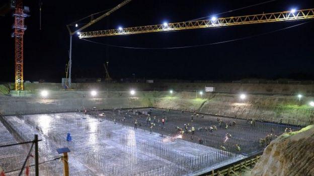 Construcción del cosmódromo Vostochny