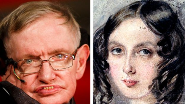 Stephen Hawking and Ada Lovelace