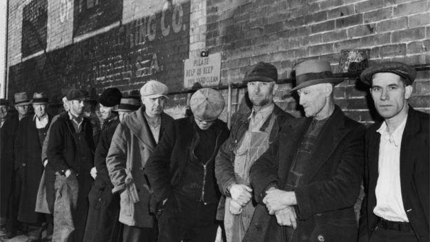 Unemployment in depression-era America