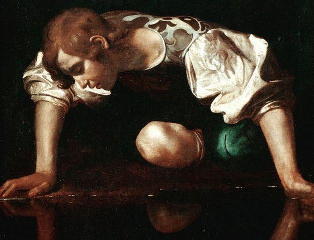Cuadro del mito de Narciso