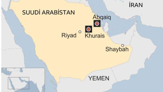 Suudi Arabistan tesisler harita