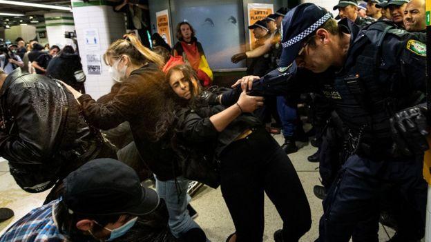 Протесты в Сиднее