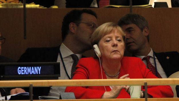 Angela Merkel na 74ª sessão da Assemblie Geral das Nações Unidas