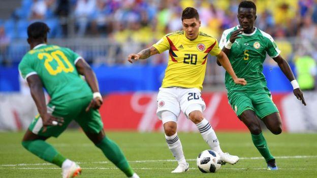 Quintero y el resto de Colombia está sufriendo por la presión de Senegal.