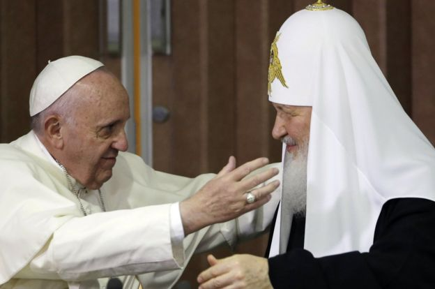 Meeting of Pope Francis and Patriarch Kirill