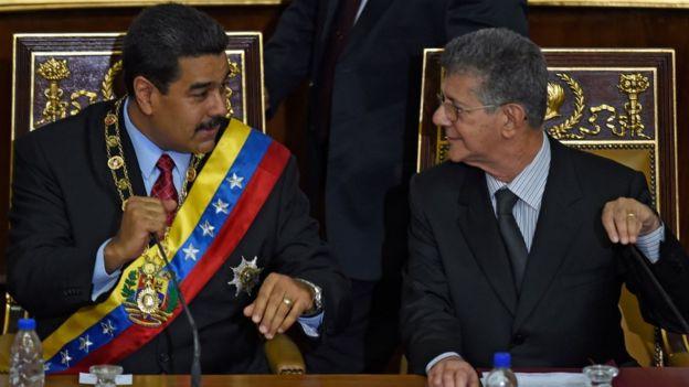 Nicolás Maduro y Henri Ramos.