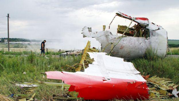 обломки самолета MH17