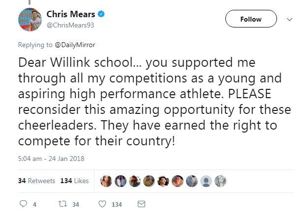 Chris Mears tweet