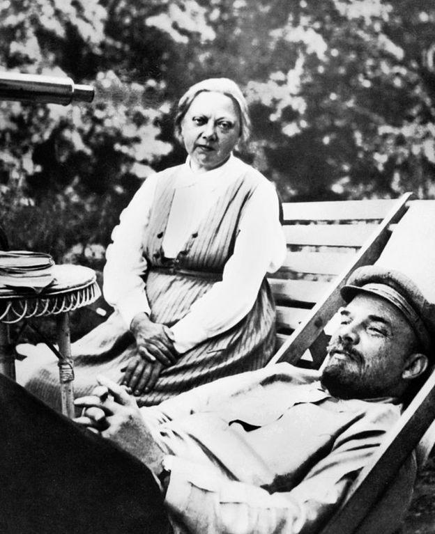 Крупская и Ленин