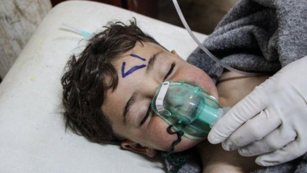 Numerosos niños tuvieron que ser atendidos tras el ataque en 207.