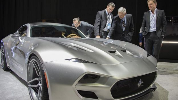 In Pictures Highlights From The Detroit Motor Show BBC News - Detroit car show
